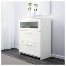 Ikea Pull Out Drawers Brimnes Chest Of 3 Drawers White Frosted Glass 78x95 Cm Ikea