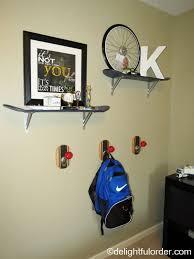 Skateboard Shelf Delightful Order My Son U0027s Skateboard Room