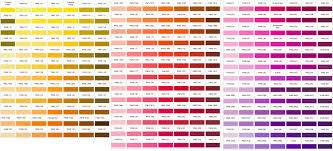 pantone colors pantone color charts
