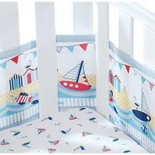 breathablebaby breathable mesh crib liner by the sea pupsik