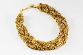 gold braided necklace images Braided gold necklace affordable junior clothing plus sized jpg