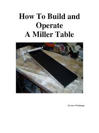 Miller Table How To Build And Operate A Miller Table Paint Countertop