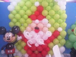 mural de santa decoraciones con globos pinterest christmas