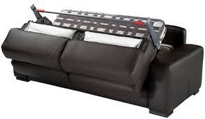 canapé convertible couchage régulier canapé lit palerme cuir canapé lit quotidien cuir pas cher