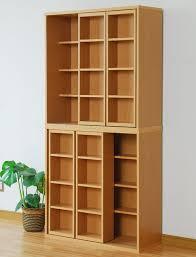 Double Bookcase Rakusouya Rakuten Global Market Storage Sliding Shelf Cd Rack