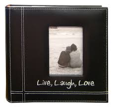 photo album 4x6 live laugh embroidered frame album holds 200 4x6 prints