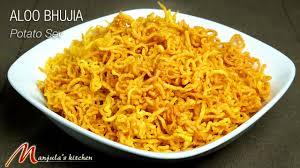 Manjula Kitchen Aloo Bhujia Potato Sev Snack Recipe By Manjula Youtube