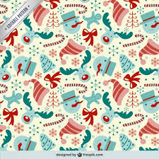 editable pattern with christmas elements vector free download