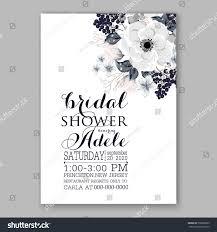 Bridal Shower Invitation Cards Designs Wedding Invitations Anemone Flowers Anemone Bridal Stock Vector