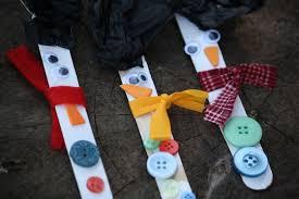 craft stick snowman ornaments happy hooligans