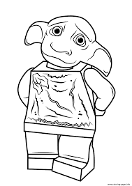 lego harry potter dobby coloring pages printable