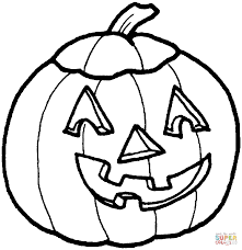 scary pumpkin face coloring page free printable coloring pages