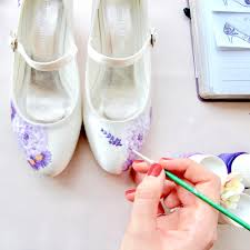 wedding shoes london bespoke painted shoes