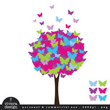butterfly tree digital clip lollipop