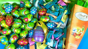 lindt halloween candy easter chocolate haul godiva and lindt bunny carrots lambs eggs