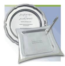 engravable wedding guest book platters signature platters for guest books