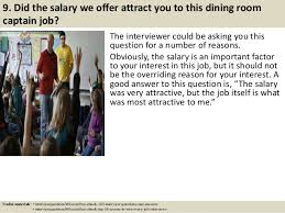 Top  Dining Room Captain Interview Questions And Answers - Dining room manager salary