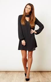 black cut out dress black choker key cut out dress silkfred