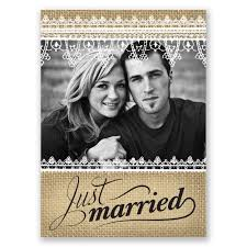 wedding announcements just married wedding announcement postcard invitations by