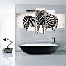 online get cheap zebra white aliexpress com alibaba group canvas painting modern 5 piece canvas art posters and prints wall pictures for living room animal
