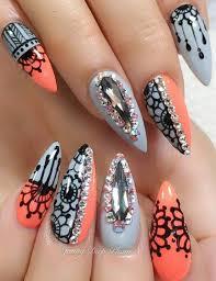 Rhinestone Nail Design Ideas 494 Best Uñas Images On Pinterest Nailart Make Up And Nail Art