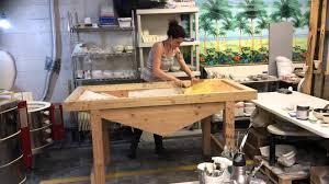 used ceramic pouring table custom slip casting table youtube