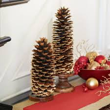 diy gold gilded giant pinecone holiday decor christmas