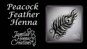 peacock feather henna tutorial youtube