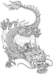 drawn chinese dragon ancient pencil and in color drawn chinese