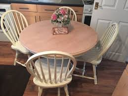 shabby chic round dining table shabby chic round dining table and chairs in new moston