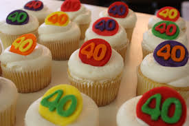 Mens 40th Birthday Decorations 40th Birthday Cup Cakes For Men 40th Birthday Decorations For