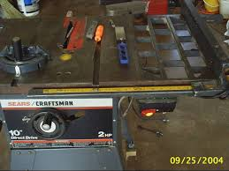 craftsman 10 inch table saw motor craftsman tablesaw updated a tad woodworking talk woodworkers forum