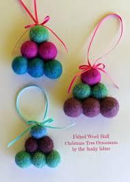 the funky felter handmade felted bead tree ornament