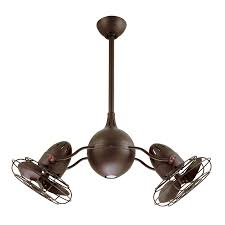 a ceiling fan with 16 in blades matthews acqua 16 in textured bronze indoor outdoor downrod mount
