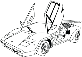 lamborghini sketch easy coloring car coloring pages pixar cars coloring pages pdf race