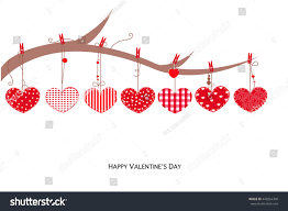 valentine s day happy valentines day card hanging love stock vector 442054300