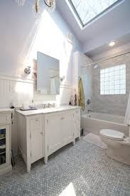 White Carrera Marble Bathroom - 1920s white carrera marble traditional nashville with plastic