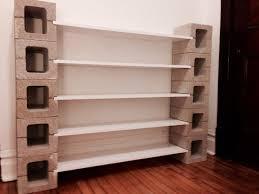 exterior astounding cinder block shelves as unique furniture