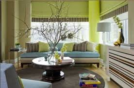 Modern Interior Design  Decor And Paint Color Schemes That - Green and yellow color scheme living room