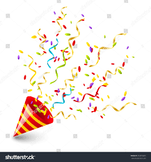 party confetti party confetti your design stock vector 253013605