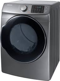 samsung 7 5 cu ft 10 cycle electric dryer with steam silver