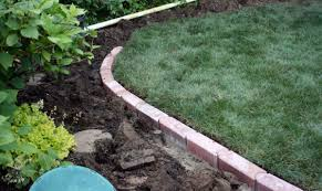 Patio Edging Options by Landscaping Edging Bricks Garden Border Bricks 25 Garden Bed