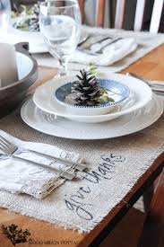 Thanksgiving Table Setting by Thanksgiving Table Setting The Wood Grain Cottage
