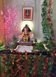decoration themes for ganesh festival at home decoration of ganesh chaturthi at home home design decor