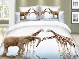 Giraffe Bed Set Giraffe Elephant 4 Pc Bed Set Boutique De Char
