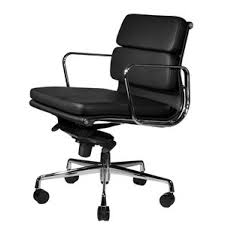 Black Leather Office Chairs Modern Genuine Leather Desk Chairs Allmodern