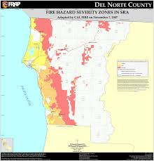 Ca Zip Code Map by Cal Fire Del Norte County Fhsz Map