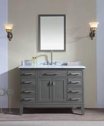 elements 48 inch douglas classic white bathroom vanity realie
