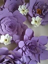 wedding backdrop paper flowers set of 5 23 inch purple paper flower backdrop