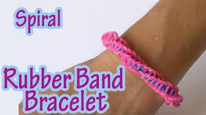 rubber bracelet made images Diy crafts spiral rubber band bracelet without loom ana jpg